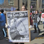Workers' Rights Supporter In Madison Wisconsin