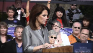 Michele Bachmann announces candidacy for President while in Waterloo, Iowa