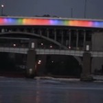 I-35W bridge shows its rainbow colors during pride week