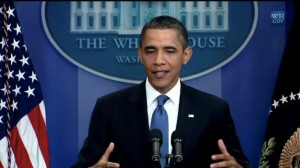 President Obama answers questions from the press about deficit negotiations