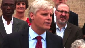 "House Minority Leader Paul Thissen At ""Courage To Compromise"" News Conference"