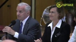 Governor Mark Dayton and Commissioner of Human Services, Lucinda Jesson
