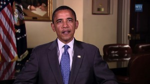President Obama talks of service to remember the 10th anniversary of 9/11 attacks on the US