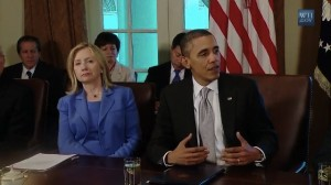 Obama comments on lack of FAA bill before a cabinet meeting