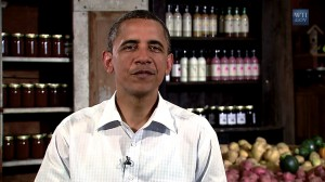 President Obama delivers his weekly address from the Country Corner Farm in Alpha, Illinois