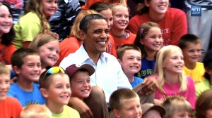 President Obama With School kids in Chatfield, MN