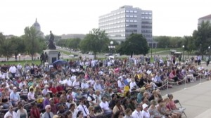 Crowd at MN State Capitol 9/11 Memorial