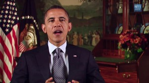 President Obama talks about the end of the Iraq war during his weekly address