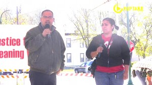 Representative Keith Ellison at CTUL rally