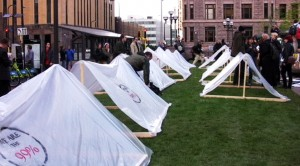 Transparent tents at Occupy MN