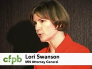 Minnesota Attorney General Lori Swanson at CFPB News Conference
