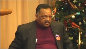 Jesse Jackson addresses an Occupy friendly crowd in Iowa