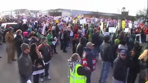 Strike Rally in Manitowoc, Wisconsin