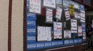 Protest against NDAA outside Obama campaign office in Minneapolis