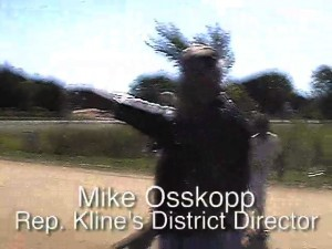 Mike Osskopp yells racial slurs at cars
