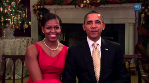 Michelle Obama & President Barack Obama send their Christmas greetings
