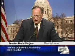 Senator David Senjem in 2009 when he was Senate Minority Leader