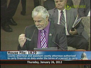 Rep. Tony Cornish argues for his gun bill