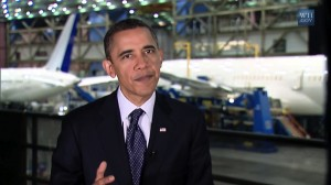 President Obama delivers weekly address from Boeing plant in Everett, Washington