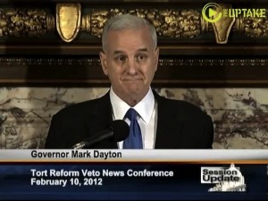 Governor Dayton Vetoes 4 ALEC Templated Tort Reform Bills