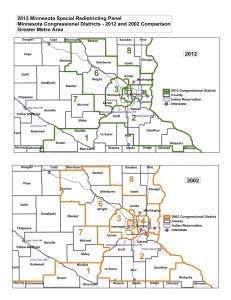 2002 vs 2012 MN Congressional Districts in Metro Area