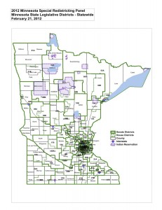 Minnesota Legislative Districts Statewide