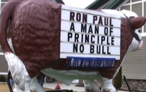 Sign outside Ron Paul Rally in Minnesota
