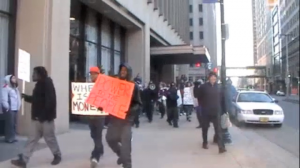 Occupy Coalition arrives at Milwaukee City Hall