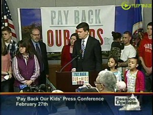 "Rep Ryan Winkler and Sen Katie Seiben hold ""Pay Back Our Kids"" news conference"