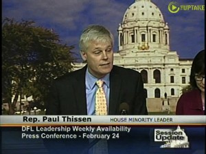 Representative Paul Thissen asks where are all the GOP jobs bills?
