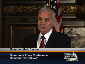 Governor Mark Dayton Vetos GOP Tax Bill