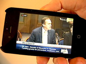 UpTake Mobile Livestream Video On An iPhone